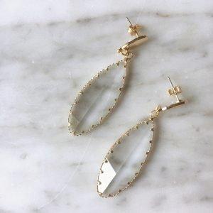 Long Leaf Glass Earrings