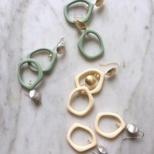 Dali Earrings Silver/Gold (2 kleuren)