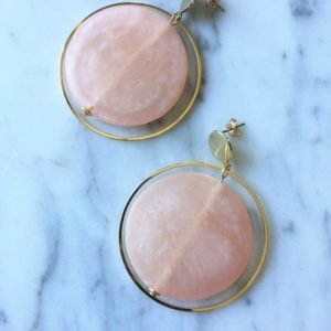 Matte Glass Hoop Pink