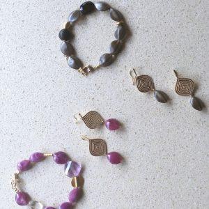 Leafs Set Earrings and Bracelet (2 kleuren)