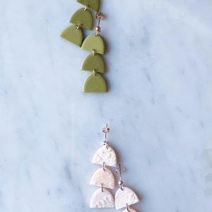 Tiny Half Moon Earrings
