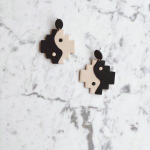 Boho Ying Yang Earrings
